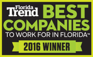 Florida Trend Best Companies to work for in Florida_2016 Winner