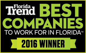 Kaufman Lynn has been named 2016 Winner of Florida Trend Best Companies to work for in Florida