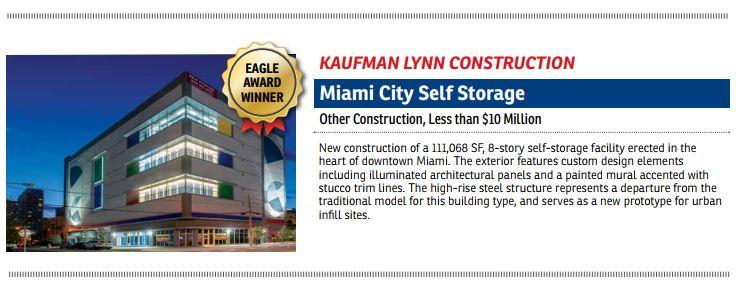 EIC Eagle Award Winner Miami City Self Storage