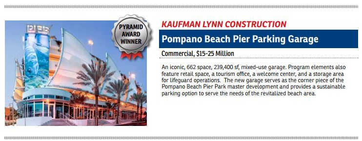 EIC Pyramid Award Winner Pompano Beach Parking Garage